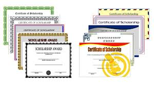 Editable Scholarship Certificate The Best Template Collection