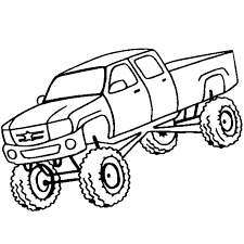 Truck Color Page Monster Truck Color Page Monster Truck Coloring