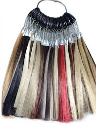 Synthetic Wig Fiber Hair Color Ring Chart For High