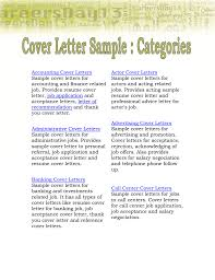 Accounting Cover Letters Sample Cover Letters For Accounting And