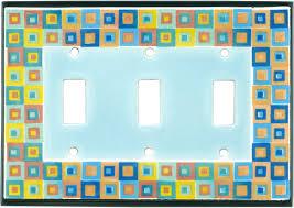 Decorative Light Switch Plates Art Glass Ceramic Light Switch Plates Outlet Covers Wallplates