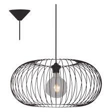Hanglamp Freelight Ellipsis H3701z Zwart 52cm
