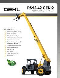 Jcb 509 42 Load Chart Rs12 42 Gen2 Telescopic Handler Spec Sheet Manualzz Com
