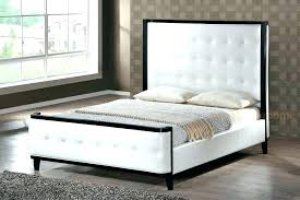 white leather queen bed modern white queen bed black and white headboard image of modern white white leather queen bed