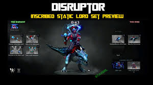 dota 2 disruptor inscribed static lord set preview youtube