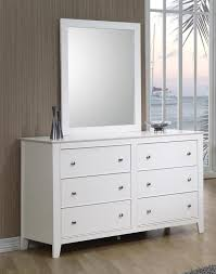 white six drawer dresser. Selena Collection Contemporary White SixDrawer Dresser In Six Drawer