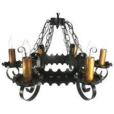 vintage copper metal art crafts design ceiling hanging lamp 6 light chandelier