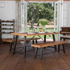 noble house simone 3 piece teak finish acacia wood dining set