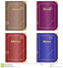 Restaurant Menu Book Design Restaurant Menu The Menu Book Stock Illustration