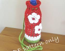Bottle carrier   Etsy & Pattern. Crochet pattern for a water bottle carrier. Photo tutorial. Water  bottle holder Adamdwight.com