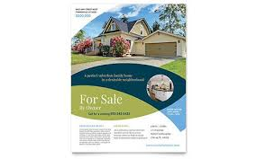 Microsoft Real Estate Flyer Templates For Sale By Owner Flyer Microsoft Office Template