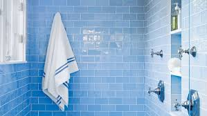 blue bathrooms. Instead Of Washing Your Bath In White And Incorporating Pops Blue, Try It Blue Bathrooms R