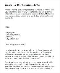 Thank You Job Offer Acceptance How To Write Email Accept Job Offer Response Letter Accepting A