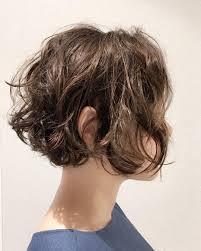 ショートヘアのパーマ30選ショートボブ前下がりくせ毛ゆるふわ Belcy