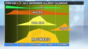 Austin Allergy Season Chart