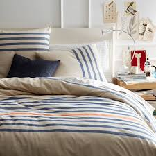 yellow striped duvet cover west elm sweetgalas