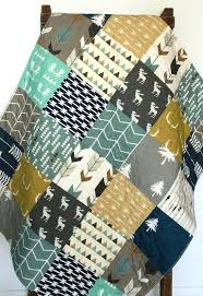 Baby Boy Quilt Kits To Make Baby Quilt Boy Moose Bow And Arrow ... & Baby Boy Quilt Kits To Make Baby Quilt Boy Moose Bow And Arrow Woodland  Birch By Adamdwight.com