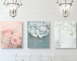 Shabby Chic Wall Art, Shabby Chic Decor, SET of THREE Prints or Canvases,