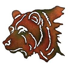 metal bear wall art