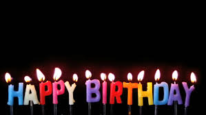 Colourful Happy Birthday Candles Being Video De Stock Totalmente