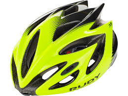 Rudy Project Rush Helmet Yellow Fluo Black Shiny