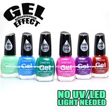 Beauty 360 No Light Gel Polish Review Santee 6 Gel Effect Shine Nail Polish No Uv Led Light Needed Neon Blue Lavender Set D Free Earring