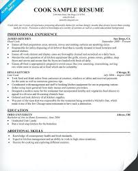 Line Cook Resume Amazing Resume Sample For A Cook