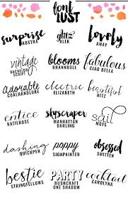 Hand Script Font The Best Handwritten Script Fonts For Your Blog Hand Lettering