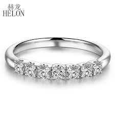 <b>HELON</b> Moissanite <b>Ring</b> 925 Sterling Silver VVS/ FG Color Lab ...