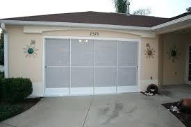 garage doors palm coast fl sliding garage screen doors hide away screens sliding garage door screens