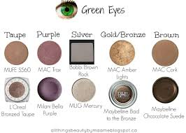 perfect shadows to go with green eyes