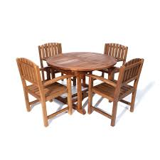 Oval outdoor dining set view larger