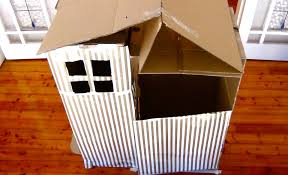 Cardboard House For Cats How To Make A Cardboard Cubby House Youtube