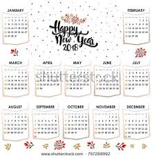 yearly calendar 2017 template calendar 2017 year vector design stationery stock vector 757289092