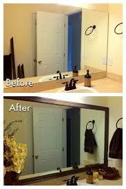 Diy Bathroom Mirror Miscellanea Etcetera Diy Bathroom Mirror Frame For Less Than 20