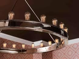 round edison bulb chandelier designs