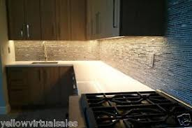 Kitchen Led Strip Lighting Under Cabinet Waterproof Kit Warm White Colored  Rock Wall Marble Glossy Table ...