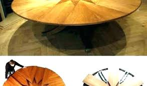 expanding circular table unique round expandable dining and room tables that expand extending uk expanding circular table