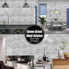 3D Brick PVC Stone Vinyl Wall Sticker ...