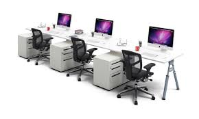 office desk workstation. 3 Person Workstation Bench - Ergonomic Desk Run Silver Leg Elements Office I