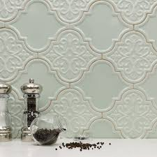 Houzz Kitchen Tile Backsplash Byzantine Florid Arabesque Alice Ceramic Tile Arabesque Tile