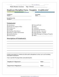 employee discipline template employee discipline templates templates forms pinterest