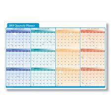 Calendar Year Quarters 2019 Quarterly Planner