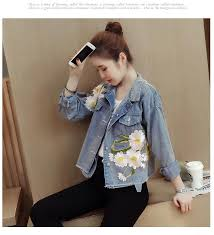 2018 spring and autumn new tide dress jacket women loose all match s casual denim