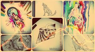 эскизы тату воющий волк рисунки для татуировки с воющим волком