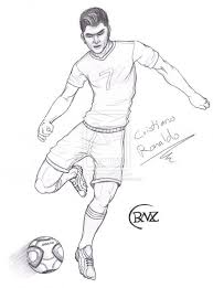 Christiano Ronaldo Christiano Ronaldo Coloring Pages Soccer With