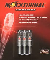 G5 Lighted Nocks Rage Nockturnal H Lighted Nocks 3pk Red