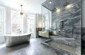 bathroom master bath shower ideas contemporary with infinity drain and freestanding tub chandelier for small bathrooms