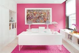 colorful office decor. Pink Office Decor With Room Colorful Spaces And Their Mood Modifiers O