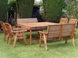 large 8 seat garden dining set square